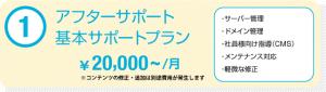 アフターサポート 基本サポートプラン ¥20,000~/月 ※コンテンツの修正・追加は別途費用が発生します ・サーバー管理 ・ドメイン管理 ・社員様向け指導(CMS) ・メンテナンス対応 ・軽微な修正
